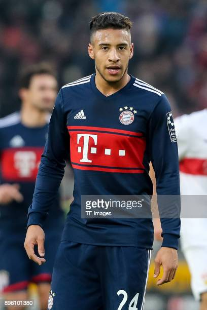 Corentin Tolisso of Bayern Muenchen looks on during the Bundesliga match between VfB Stuttgart and FC Bayern Muenchen at MercedesBenz Arena on...