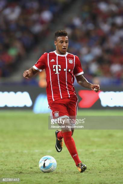 Corentin Tolisso of Bayern Muenchen runs with the ball during the International Champions Cup 2017 match between Bayern Muenchen and Chelsea FC at...