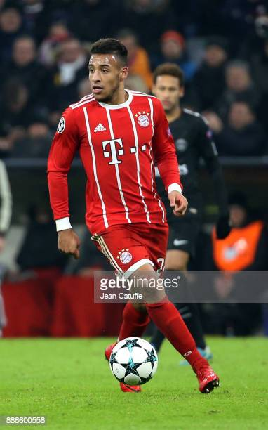 Corentin Tolisso of Bayern Munich during the UEFA Champions League group B match between Bayern Muenchen and Paris SaintGermain at Allianz Arena on...