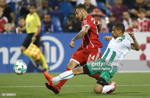 Corentin Tolisso of Bayern Munich in action during a friendly match between FC Bayern Munich and AlAhly at Aspire Academy on January 06 2018 in Doha...
