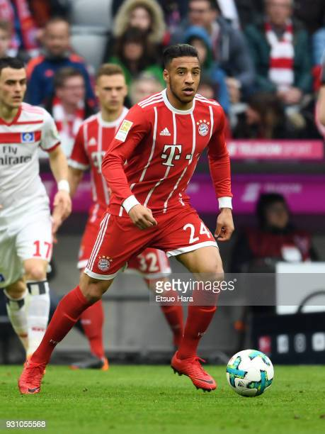 Corentin Tolisso of Bayern Munich in action during the Bundesliga match between FC Bayern Muenchen and Hamburger SV at Allianz Arena on March 10 2018...