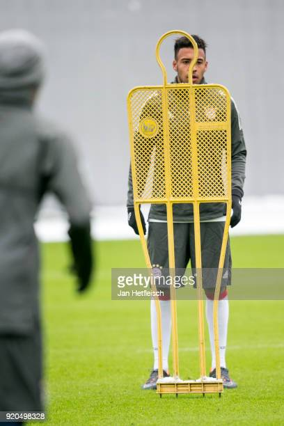 Corentin Tolisso of FC Bayern Muenchen during a training session ahead the champions league match between FC Bayern Munich and Besiktas Istanbul on...
