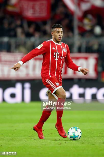 Corentin Tolisso of FC Bayern Muenchen runs with the ball during the Bundesliga match between FC Bayern Muenchen and 1 FC Koeln at Allianz Arena on...