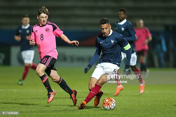 Corentin Tolisso of France during the Uefa U21 European Championship qualifier between France and Scotland at Stade Jean Bouin on March 24, 2016 in...