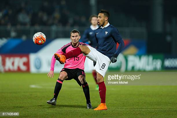 Corentin Tolisso of France during the Uefa U21 European Championship qualifier between France and Scotland at Stade Jean Bouin on March 24 2016 in...