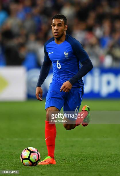 Corentin Tolisso of France makes a break during the International Friendly match between France and Spain at the Stade de France on March 28 2017 in...