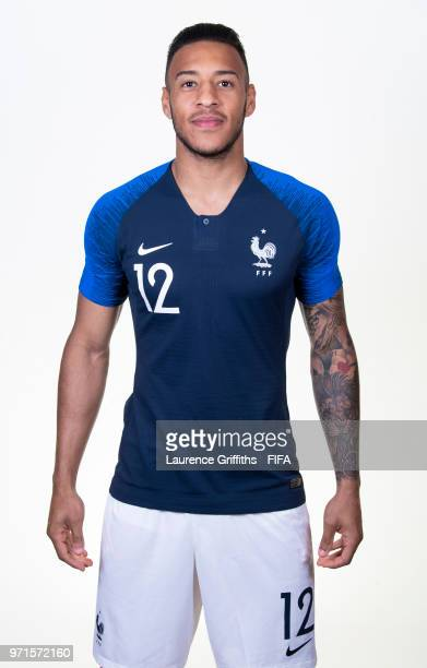 Corentin Tolisso of France poses for a portrait during the official FIFA World Cup 2018 portrait session at the Team Hotel on June 11 2018 in Moscow...