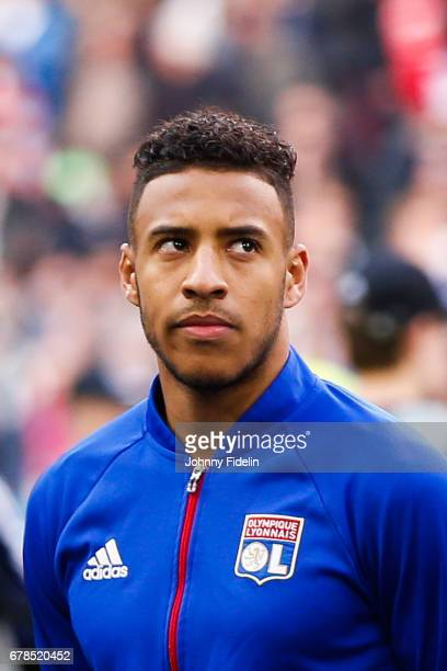 Corentin Tolisso of Lyon during the Uefa Europa League semi final first leg match between Ajax Amsterdam and Olympique Lyonnais at Amsterdam Arena on...