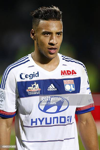 Corentin Tolisso of Lyon looks on during the French Ligue 1 match between Olympique Lyonnais and AS SaintEtienne at Stade de Gerland on November 8...