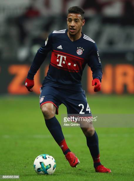 Corentin Tolisso of Muenchen controls the ball during the Bundesliga match between Eintracht Frankfurt and FC Bayern Muenchen at CommerzbankArena on...