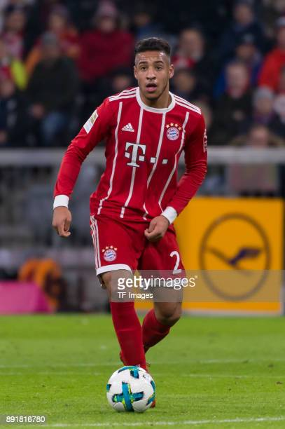 Corentin Tolisso of Muenchen controls the ball during the Bundesliga match between FC Bayern Muenchen and 1 FC Koeln at Allianz Arena on December 13...