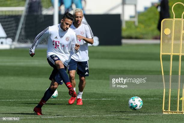 Corentin Tolisso of Muenchen controls the ball during the FC Bayern Muenchen training camp at Aspire Academy on January 03 2018 in Doha Qatar