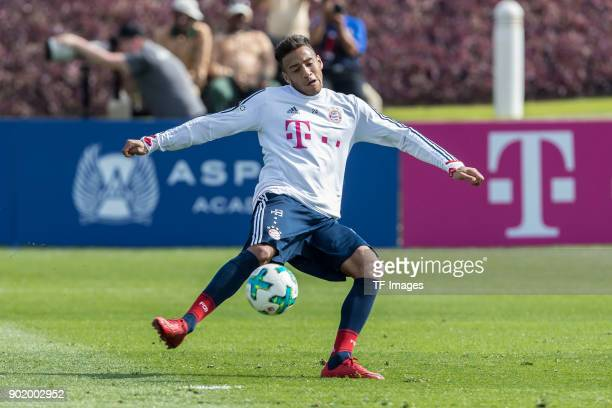 Corentin Tolisso of Muenchen controls the ball during the FC Bayern Muenchen training camp at Aspire Academy on January 05 2018 in Doha Qatar