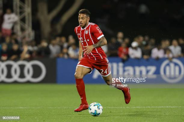 Corentin Tolisso of Muenchen controls the ball during the Friendly match between AlAhli and Bayern Muenchen at Aspire Academy on January 06 2018 in...