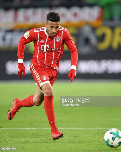 Corentin Tolisso of Muenchen in action during the Bundesliga match between VfL Wolfsburg and FC Bayern Muenchen at Volkswagen Arena on February 17...