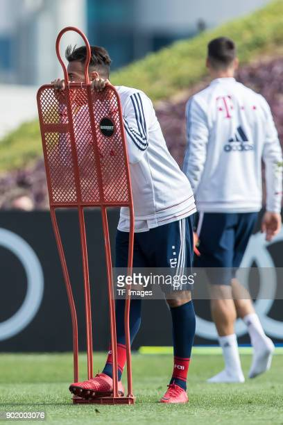 Corentin Tolisso of Muenchen looks on during the FC Bayern Muenchen training camp at Aspire Academy on January 05 2018 in Doha Qatar