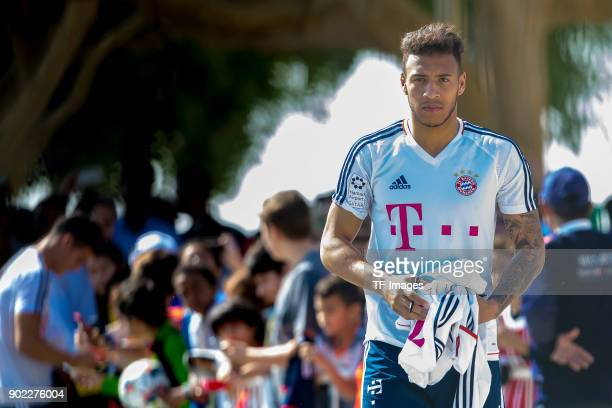 Corentin Tolisso of Muenchen looks on during the FC Bayern Muenchen training camp at Aspire Academy on January 06 2018 in Doha Qatar