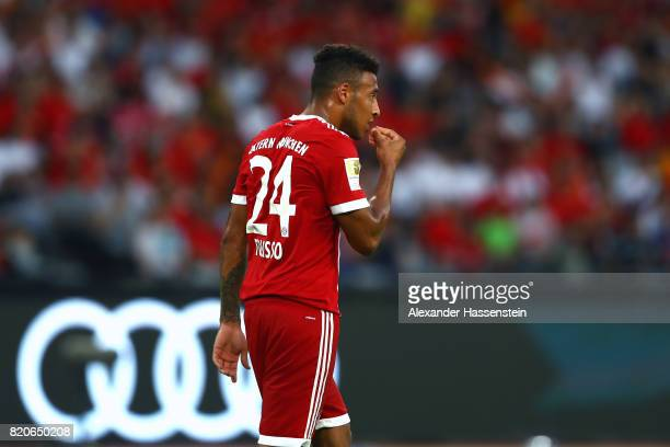 Corentin Tolisso of Muenchen reacts during the International Champions Cup Shenzen 2017 match between Bayern Muenchen and AC Milan at on July 22 2017...