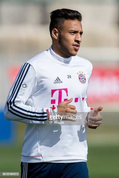 Corentin Tolisso of Muenchen runs during the FC Bayern Muenchen training camp at Aspire Academy on January 07 2018 in Doha Qatar