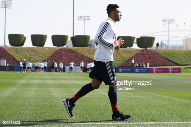Corentin Tolisso runs during a training session on day 6 of the FC Bayern Muenchen training camp at ASPIRE Academy for Sports Excellence on January 7...