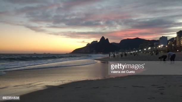 Cores e reflexos do por do sol no Rio