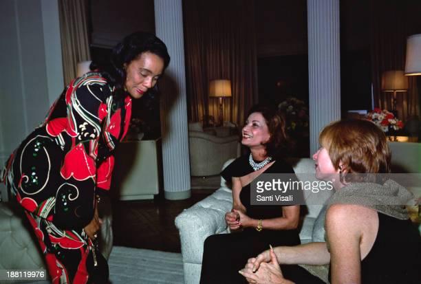 Coretta King Princess Ashraf Actress Shirley MacLaine on October 10 1977 in New York New York