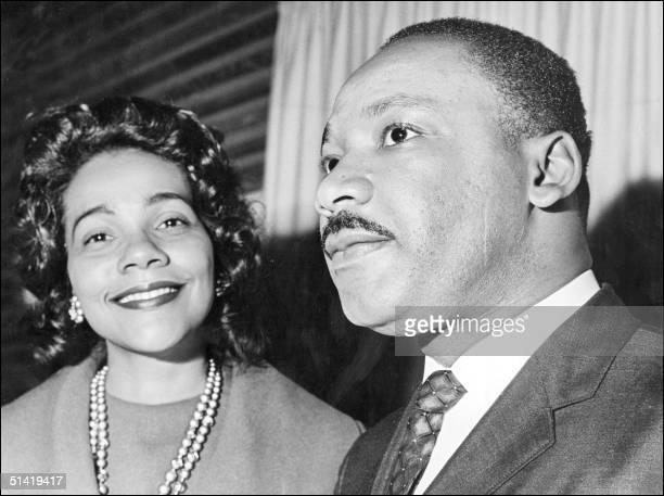 Coretta Scott King and her husband Martin Luther King 09 December 1964 in Oslo where the US clergyman and civil rights leader received 10 December...