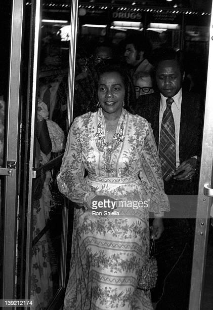 Coretta Scott King attends the premiere of 'Uptown Saturday Night' on June 15 1974 at the Criterian Theatre in New York City