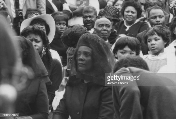 Coretta Scott King widow of assassinated American civil rights leader Martin Luther King Jr at her late husband's funeral in Atlanta Georgia 9th...