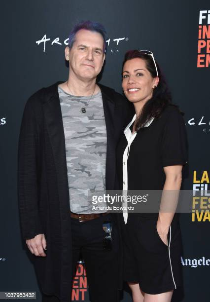Corey Allen Jackson and Molly Fitzgerald attend the screening of 'Fire On The Hill' during the 2018 LA Film Festival at ArcLight Culver City on...
