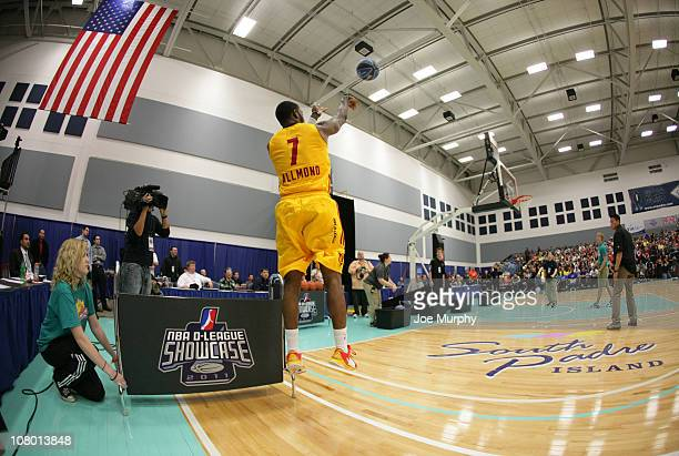 Corey Allmond of the Fort Wayne Mad Ants shoots the ball during the 3 Point Shooting Contest during the 2011 NBA DLeague Showcase Slam Dunk and 3...