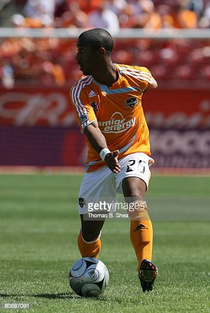 Corey Ashe of the Houston Dynamo against FC Dallas during an MLS game at Robertson Stadium on April 6, 2008 in Houston, Texas. The Dynamo tied FC...