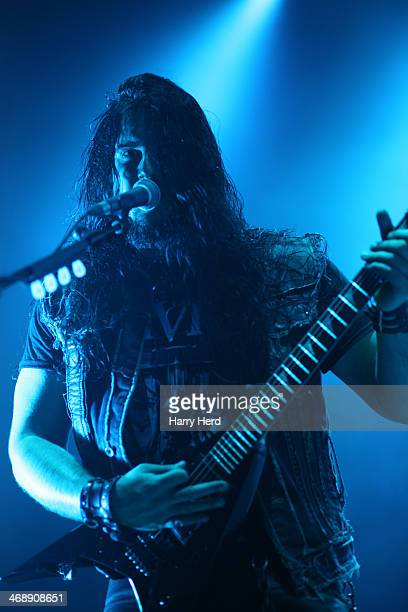 Corey Beaulieu of Trivium performs at Southampton Guildhall on February 7 2014 in Southampton England