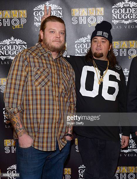 Corey 'Big Hoss' Harrison and Austin 'Chumlee' Russell arrive at the opening of 'Pawn Shop Live' a parody of History's 'Pawn Stars' television series...