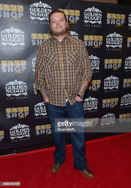 Corey 'Big Hoss' Harrison arrives at the opening of 'Pawn Shop Live!,' a parody of History's 'Pawn Stars' television series, at the Golden Nugget...