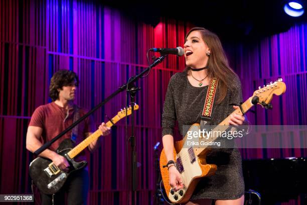 Corey Bissell and Amanda Tamaccio of the band Star Chamber perform during The Recording Academy Memphis Chapter membership celebration at the New...