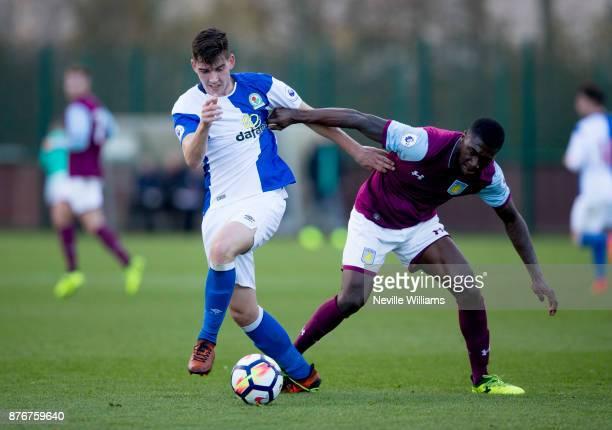 Corey Blackett Taylor of Aston Villa during the Premier League 2 match between Aston Villa and Blackburn Rovers at Bodymoor Heath on November 20 2017...
