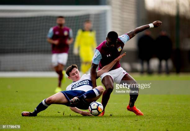 Corey Blackett Taylor of Aston Villa during the Premier League 2 match between Aston Villa and Middlesbrough at Bodymoor Heath on January 29, 2018 in...