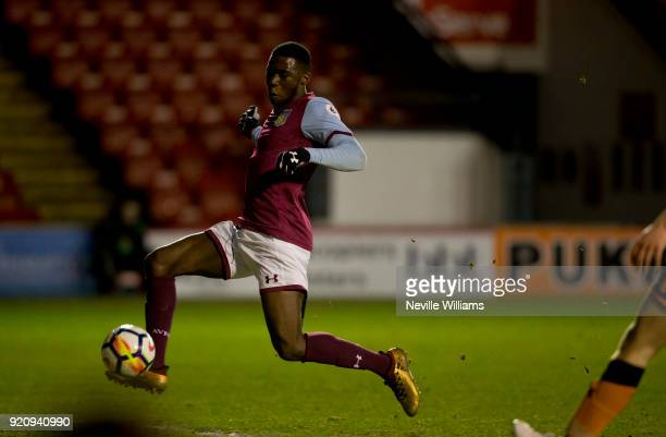 Corey Blackett Taylor of Aston Villa scores for Aston Villa during the Premier League 2 match between Aston Villa and Wolverhampton Wanderers at...