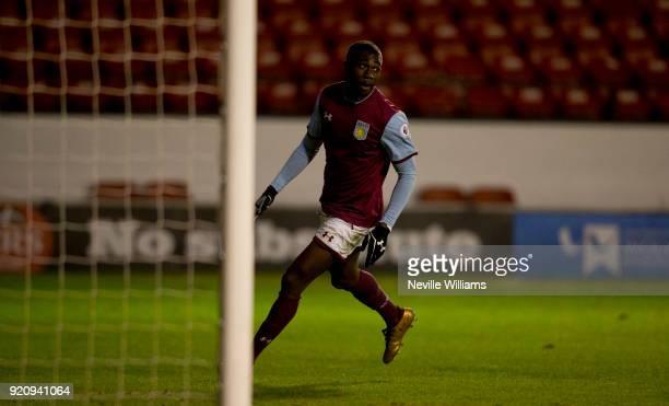 Corey Blackett Taylor of Aston Villa scores his second goal for Aston Villa during the Premier League 2 match between Aston Villa and Wolverhampton...