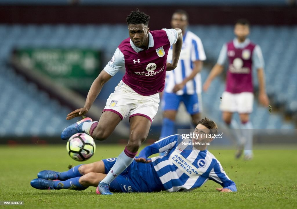 Corey Blackett-Taylor of Aston Villa during the Premier League 2 match between Aston Villa and Brighton & Hove Albion at Villa Park on March 13, 2017 in Birmingham, England.