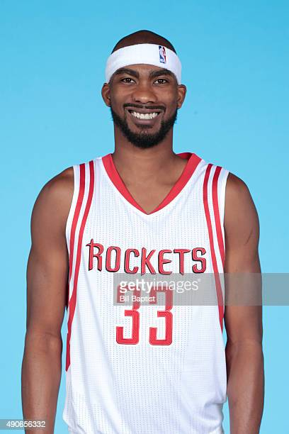 Corey Brewer of the Houston Rockets poses for a photo during NBA Media Day at the Toyota Center on September 28 2015 in Houston Texas NOTE TO USER...