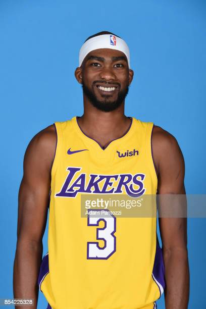 Corey Brewer of the Los Angeles Lakers poses for a head shot during media day at UCLA Health Training Center on September 25 2017 in El Segundo...