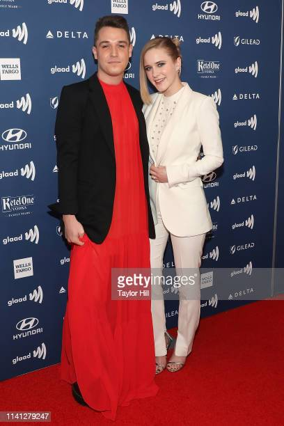 Corey Camperchioli and Rachel Brosnahan attend the 30th Annual GLAAD Media Awards at New York Hilton Midtown on May 4 2019 in New York City