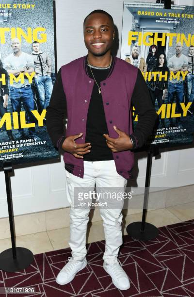 Corey Champagne attends Fighting With My Family Los Angeles Tastemaker Screening at The London Hotel on February 20 2019 in West Hollywood California