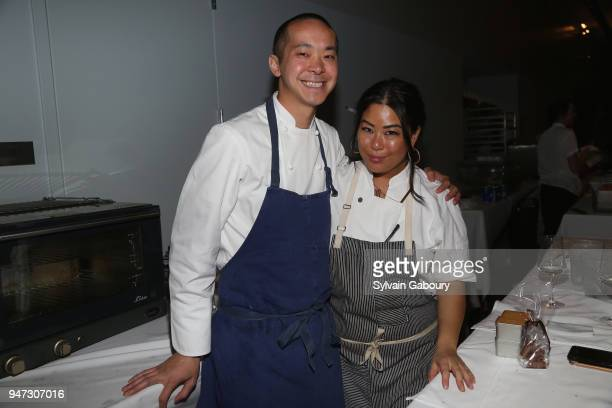 Corey Chow and Angie Mar attend Edible Schoolyard NYC 2018 Spring Benefit at 180 Maiden Lane on April 16 2018 in New York City