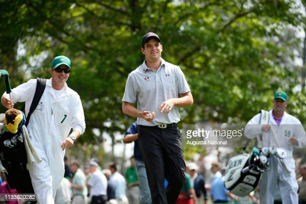 Corey Conners of Canada during Practice Round 2 for the Masters at Augusta National on Tuesday April 7 2015
