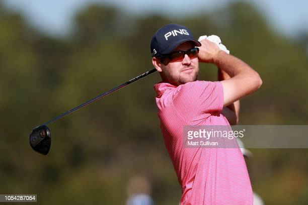Corey Conners of Canada plays his shot from the second tee during the third round of the Sanderson Farms Championship at The Country Club of Jackson...