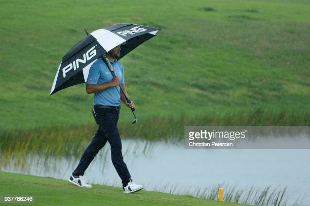 Corey Conners of Canada walks along the third fairway during the final round of the Corales Puntacana Resort Club Championship on March 25 2018 in...
