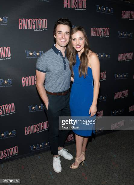 Corey Cott and Laura Osnes attend the 'Bandstand The Broadway Musical On Screen' New York premiere at SVA Theater on June 20 2018 in New York City